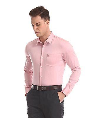 USPA Tailored Long Sleeve French Placket Shirt