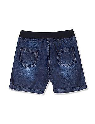 Donuts Blue Boys Drawstring Waist Denim Shorts
