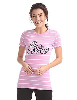 Aeropostale Striped Regular Fit T-Shirt
