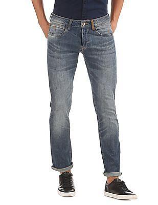 Flying Machine Slim Tapered Fit Laser Wash Jeans