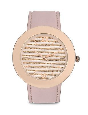 Aeropostale Leather Strap Analogue Watch