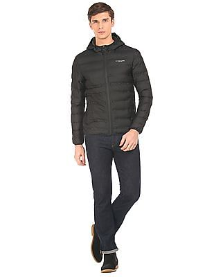 U.S. Polo Assn. Denim Co. Hooded Puffer Jacket With Pouch