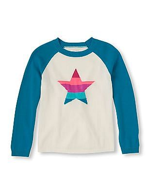 The Children's Place Girls Star Icon Knit Sweater