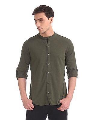 Cherokee Long Sleeve Slub Knit Shirt