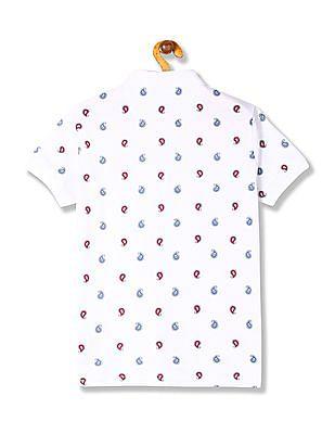 U.S. Polo Assn. Kids Boys Regular Fit Paisley Print Polo Shirt