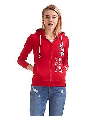 Newport Hooded Zip Up Sweatshirt