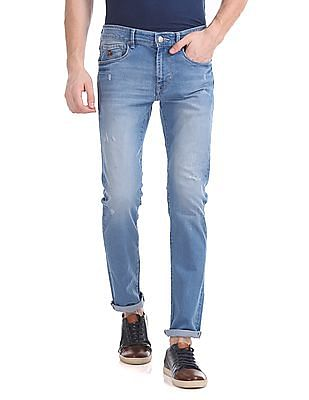U.S. Polo Assn. Denim Co. Regallo Skinny Fit Distressed Jeans