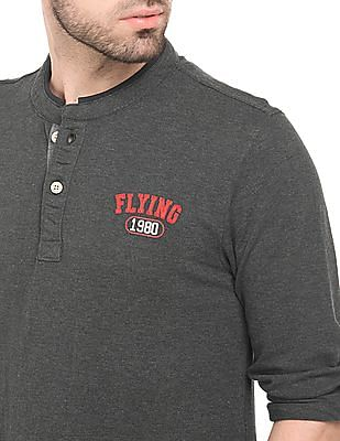 Flying Machine Long Sleeve Polo Shirt