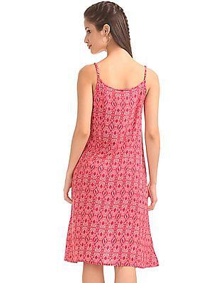 Bronz Strappy A-Line Dress