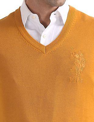 U.S. Polo Assn. Denim Co. Standard Fit V-Neck Sweater