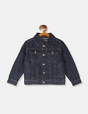 The Children's Place Toddler Boy Blue Panelled Denim Jacket