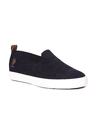 U.S. Polo Assn. Low Top Perforated Slip On Shoes