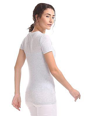Aeropostale Embellished Regular Fit T-Shirt