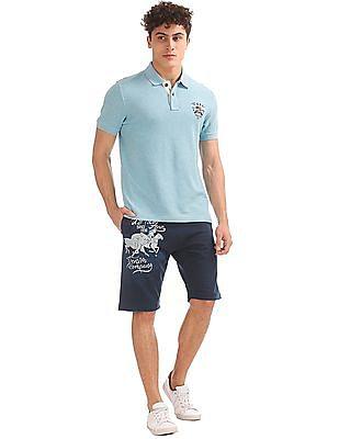 U.S. Polo Assn. Denim Co. Regular Fit Printed Knit Shorts