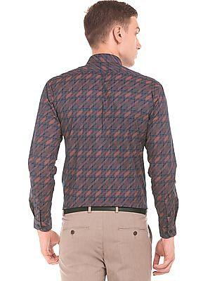Arrow Newyork Printed Cotton Lycra Shirt