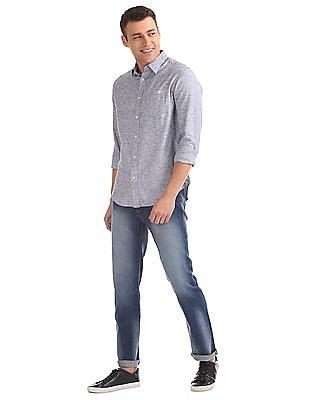 Aeropostale Regular Fit Patterned Weave Shirt