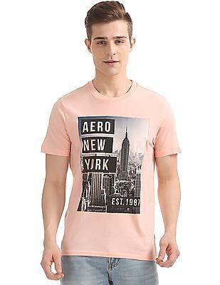 Aeropostale Printed Front Regular Fit T-Shirt