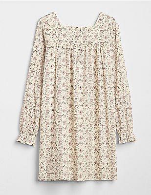 GAP Girls Floral Squareneck Dress