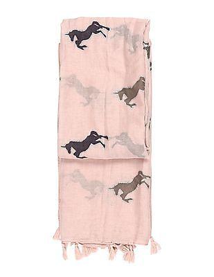 SUGR Pink Unicorn Print Stole