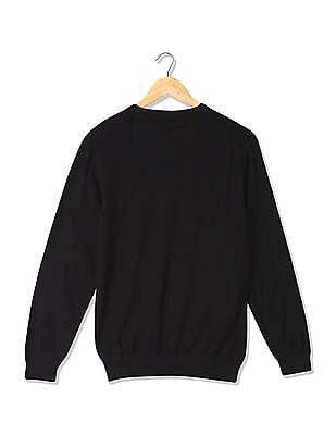 Arrow Newyork Slim Fit Striped Sweater