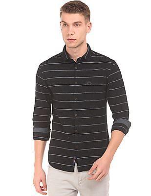 U.S. Polo Assn. Denim Co. Striped Slim Fit Shirt