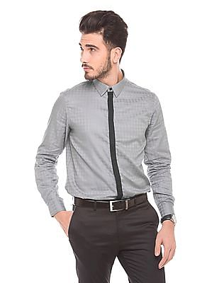 Arrow Newyork Self Pattern Slim Fit Shirt