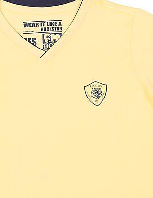 FM Boys V-Neck Slim Fit T-Shirt