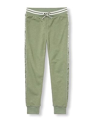 The Children's Place Girls Active Velvet Stripe Jogger Pants