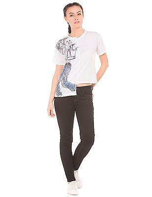 SUGR Graphic Print Boxy Top