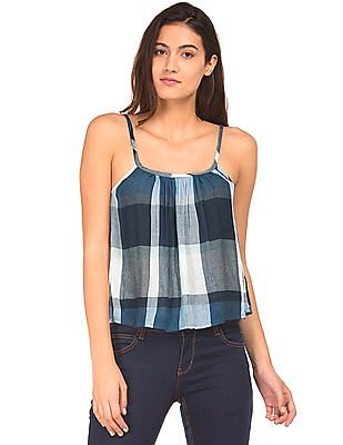 Aeropostale Crinkled Check Top