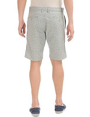 Cherokee Printed Flat Front Shorts