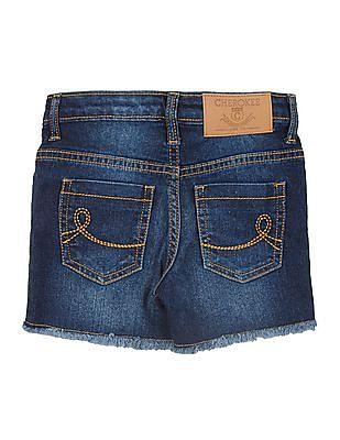 Cherokee Girls Stone Washed Denim Shorts