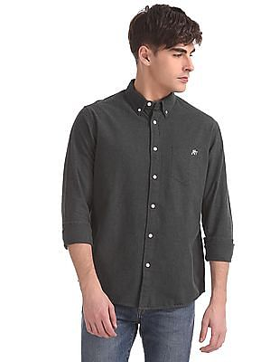 Aeropostale Regular Fit Heathered Shirt