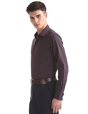 Arrow Patterned Weave Regular Fit Shirt