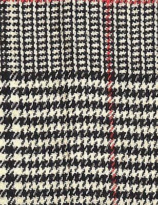 Cherokee Beige Houndstooth Pattern Fringed Muffler