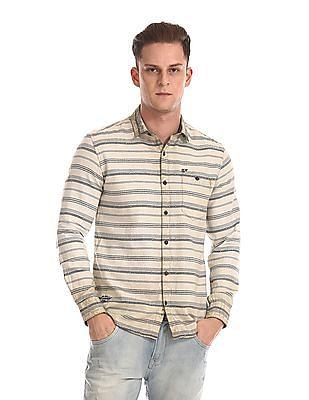 Ed Hardy Slim Fit Horizontal Stripe Shirt