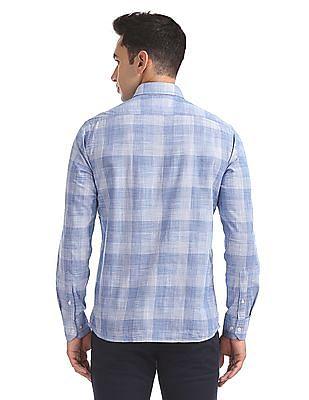 Arrow Sports Slim Fit Patterned Weave Shirt