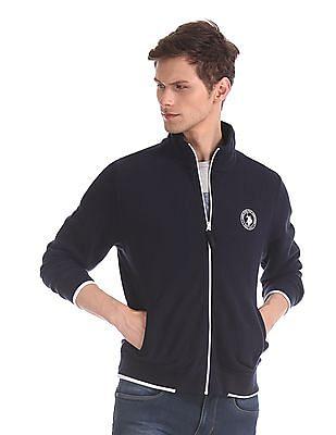 U.S. Polo Assn. Blue High Neck Zip-Up Sweatshirt