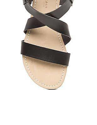 Aeropostale Cross Strap Open Toe Sandals