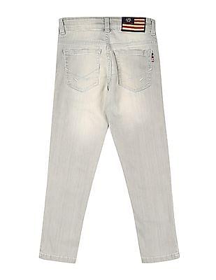 U.S. Polo Assn. Kids Boys Slim Fit Stone Wash Jeans