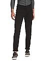 Flying Machine Black Super Slim Solid Trousers