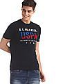 U.S. Polo Assn. Blue Crew Neck Embroidered Logo T-Shirt
