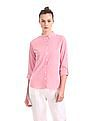 U.S. Polo Assn. Women Vertical Stripe Button Down Shirt