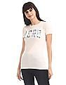 Aeropostale White Crew Neck Brand Applique T-Shirt