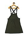 Cherokee Green Girls Dungaree Skirt With Printed T-Shirt