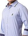 True Blue Slim Fit Solid Shirt