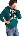 U.S. Polo Assn. Green Front Print Hooded Sweatshirt