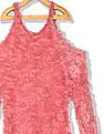 Cherokee Girls Cold Shoulder Faux Fur Sweater