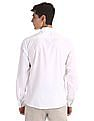 Colt White Semi Cutaway Collar Solid Shirt