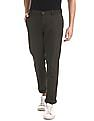 Ruggers Green Tapered Fit Cotton Stretch Trousers